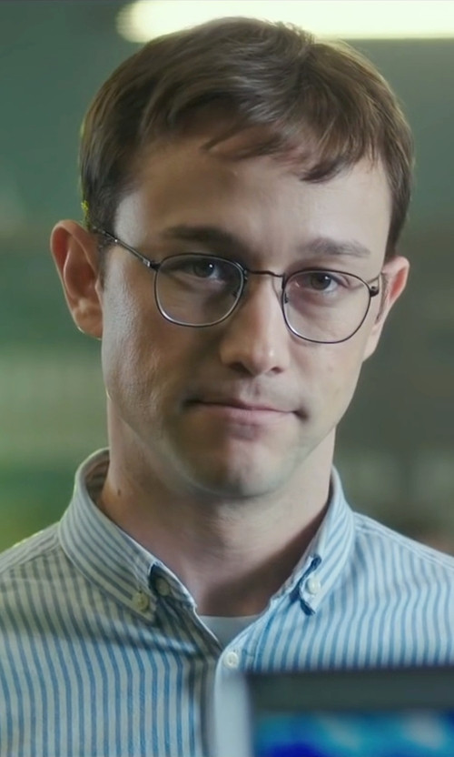 Joseph Gordon-Levitt with Christian Dior Metal Frame Eyeglasses in Snowden