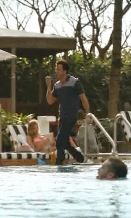 Troy Garity with Agave Denim Waterman Melange Flannel Pants in Ballers