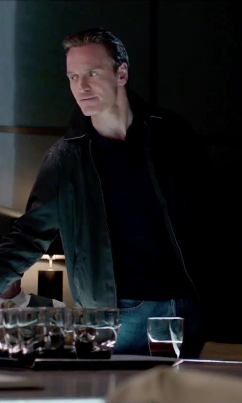 Michael Fassbender with Brunello Cucinelli Polo Shirt in Steve Jobs