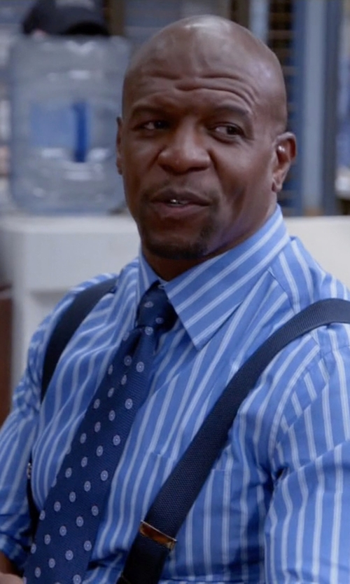 Terry Crews with Ted Baker London 'Tussah Dot' Silk Tie in Brooklyn Nine-Nine