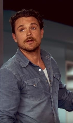 Clayne Crawford with Citizens Of Humanity Classic Jacket in Lethal Weapon