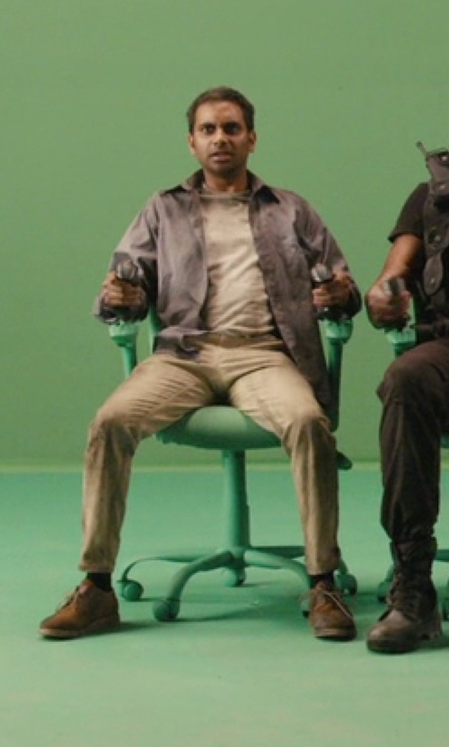Aziz Ansari with Frye Jackson Oxford Shoes in Master of None