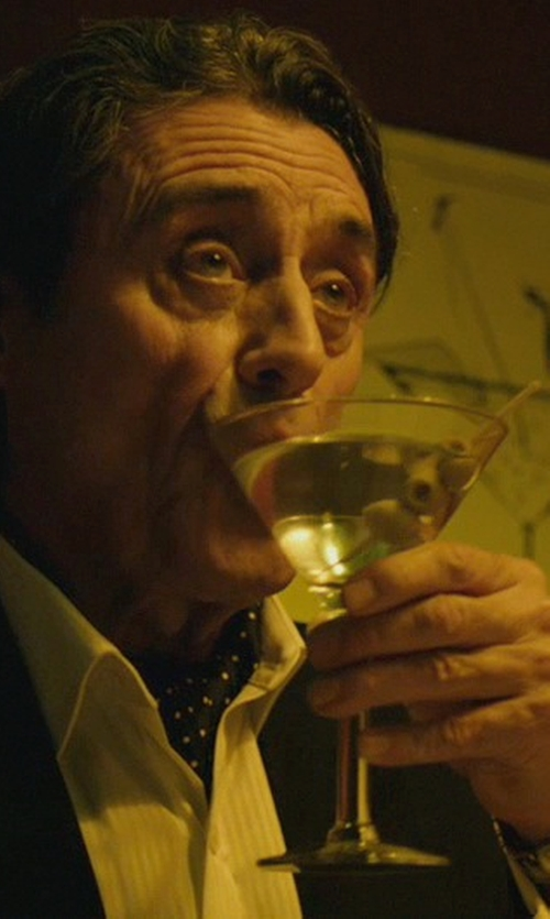 Ian McShane with Emporio Armani Stainless Steel Bracelet Watch in John Wick