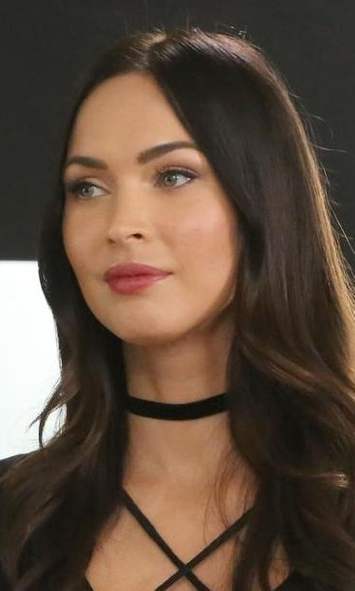 Megan Fox with Bartoli Thin Satin Choker Necklace in New Girl
