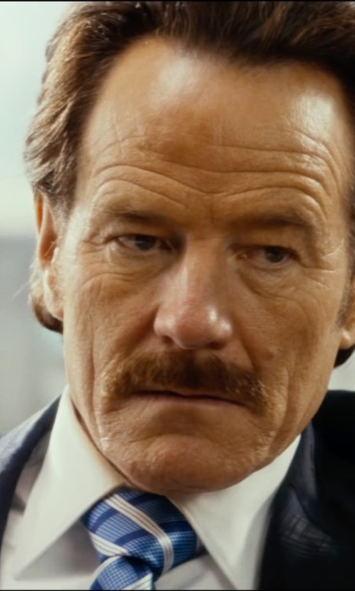 Bryan Cranston with Brooks Brothers Herringbone Striped Classic Tie in The Infiltrator
