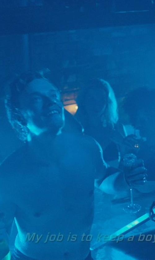 Alfie Allen with Riedel  Sommeliers Champagne Flute Glass in John Wick