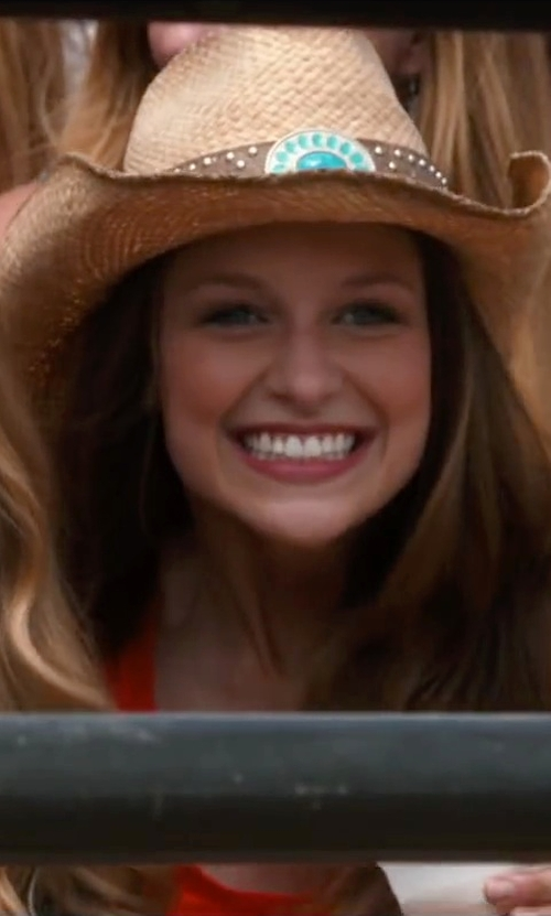 Melissa Benoist with Bullhide Shapeable Straw Cowboy Hat in The Longest Ride