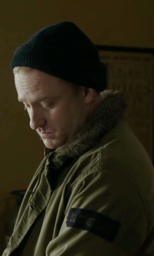 Ben Foster with River Island Green Only & Sons Parka Jacket in The Finest Hours