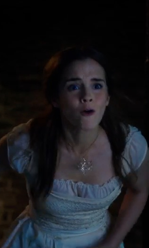 Emma Watson with Rogue Finery Peasant Boho Maiden Tier Chemise Gown in Beauty and the Beast