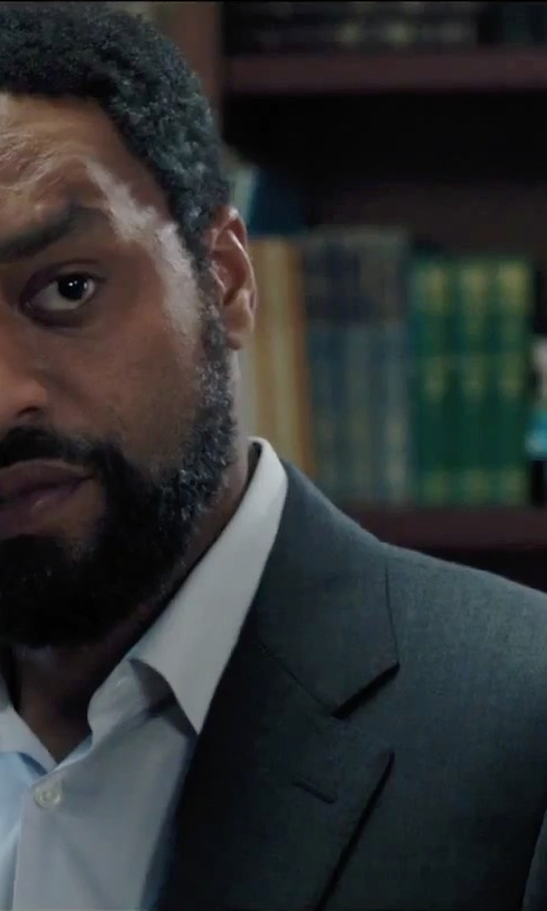 Chiwetel Ejiofor with Hugo Boss Grand Central Gabardine Two-Piece Suit in Secret in Their Eyes
