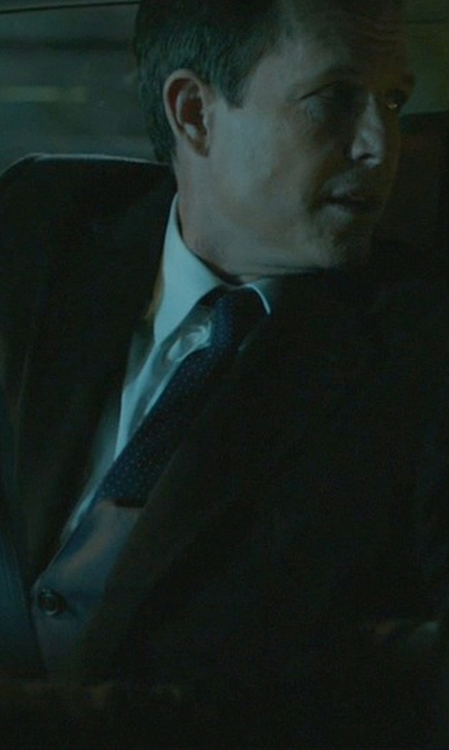 Dean Winters with Brioni Printed Silk Tie in John Wick