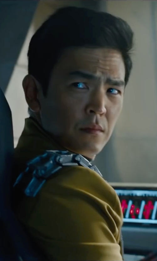 John Cho with Sanja Milkovic Hays (Costume Designer) Custom Made Sulu Tunic Uniform in Star Trek Beyond