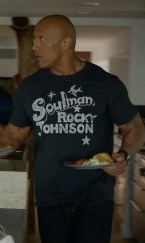 Dwayne Johnson with Remi Relief Raffi Stitch Nyc T-Shirt in Ballers