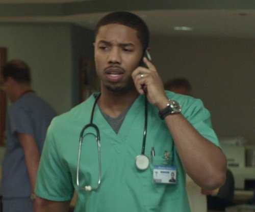 Michael B. Jordan with Omron Sprague Rappaport Stethoscope in That Awkward Moment