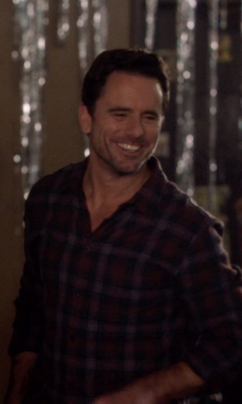 Charles Esten with Carhartt Wip Long Sleeve Baker Shirt in Nashville