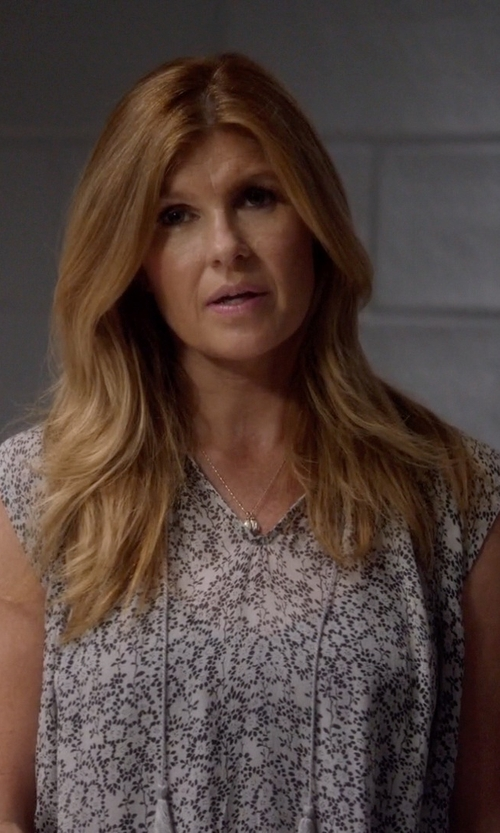 Connie Britton with Ulla Johnson 'Tilda' blouse in Nashville