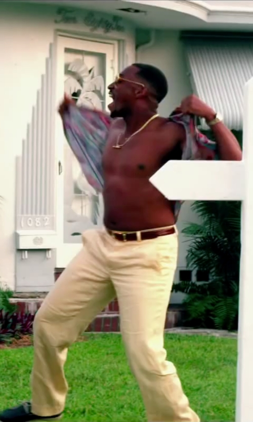 Anthony Mackie with Polo Ralph Lauren Accessories Douglas Leather Belt in Pain & Gain