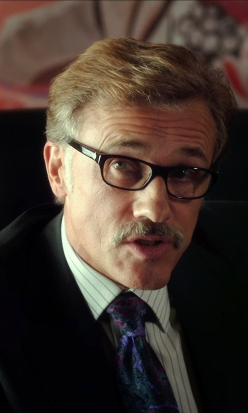 Christoph Waltz with Calvin Klein Readers Reading Glasses in Horrible Bosses 2