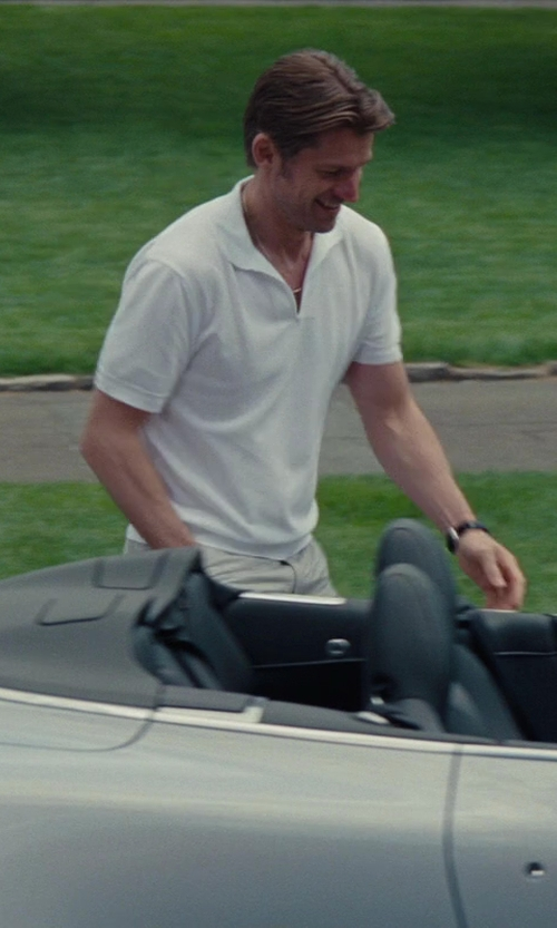 Nikolaj Coster-Waldau with Alexander Mcqueen Stand-up Collar Polo Shirt in The Other Woman