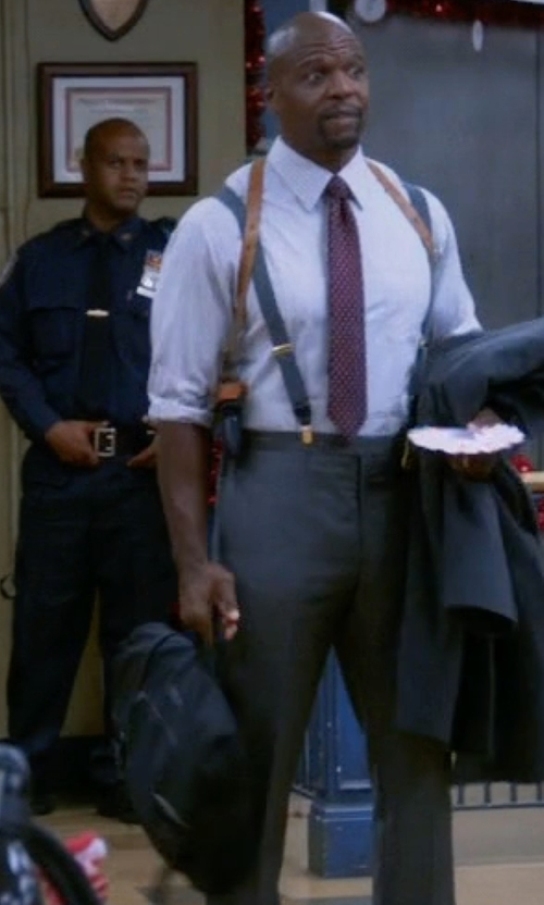 Terry Crews with Briggs & Riley Verb Engage Mini Briefcase in Brooklyn Nine-Nine