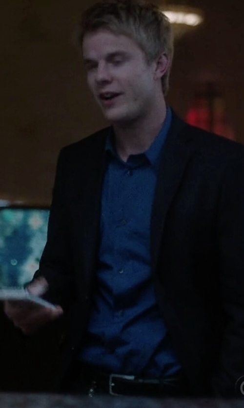 Graham Rogers with Cole Haan Leather Belt in Quantico