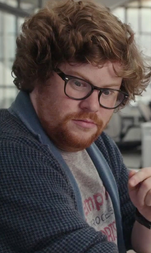 Zack Pearlman with Todd Snyder + Champion 'Processed Sportswear Logo' Graphic T-Shirt in The Intern