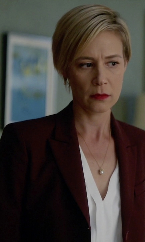 Liza Weil with Simone Marulli Single Breasted Blazer in How To Get Away With Murder