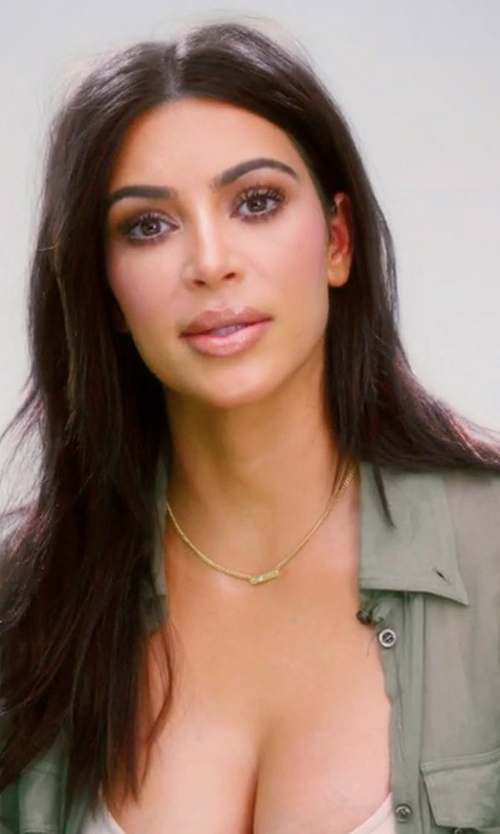 Kim Kardashian West with Frame Military Long-Sleeve Shirt in Keeping Up With The Kardashians