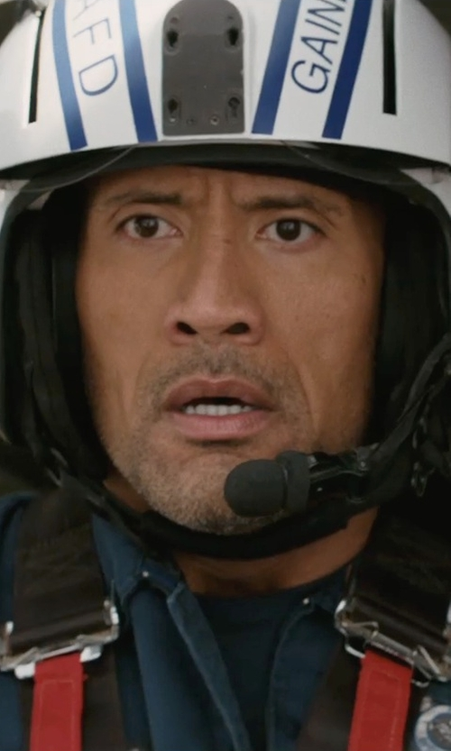 Dwayne Johnson with David Clark K-10 Helmet Kit in San Andreas