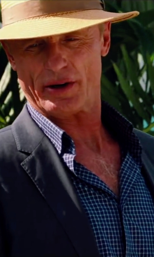 Ed Harris with L.L.Bean Men's Wrinkle-Resistant Mini-Check Shirt in Pain & Gain