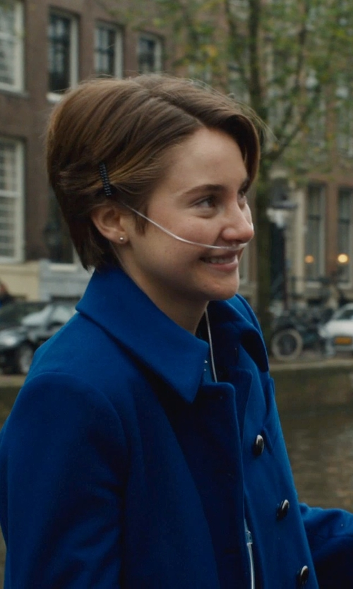Shailene Woodley with Marc Jacobs Nicoletta Wool Coat in The Fault In Our Stars