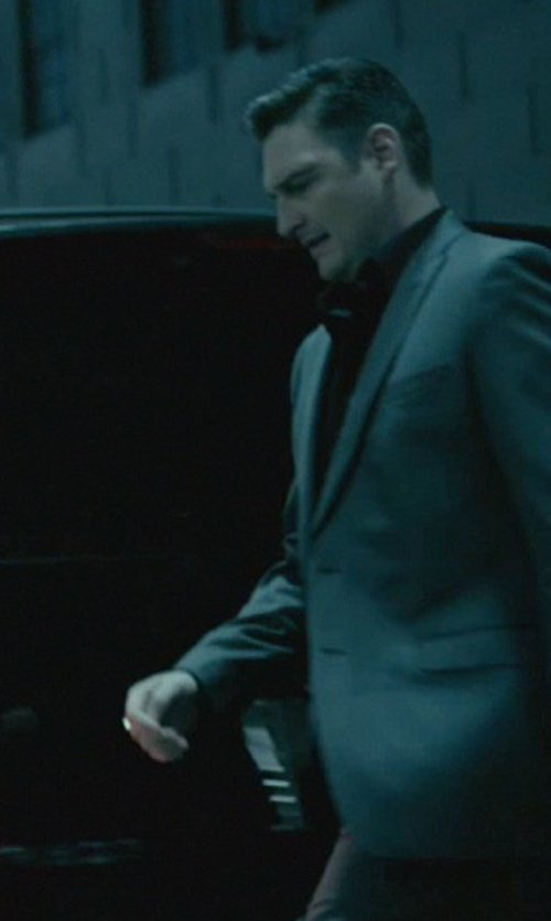 Toby Leonard Moore with Neiman Marcus Two-Piece Neat Wool Suit in John Wick