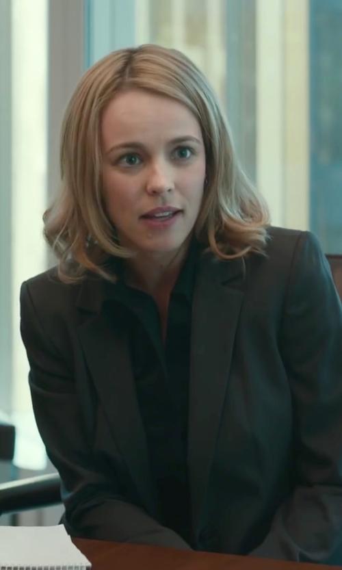 Rachel McAdams with J. Crew Ludlow Blazer In Wool Gabardine in Spotlight