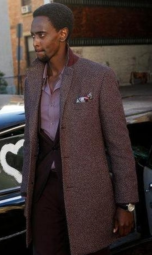 Edi Gathegi with A.P.C. Lewis Overcoat in The Blacklist