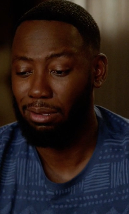 Lamorne Morris with Vestige Print Cotton T-Shirt in New Girl