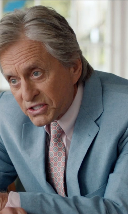 Michael Douglas with Drake's Medallion Print Silk Tie in And So It Goes
