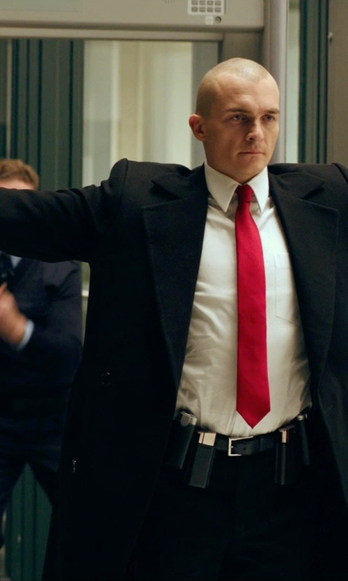 Rupert Friend with Burberry London Treyforth Solid Dress Shirt in Hitman: Agent 47