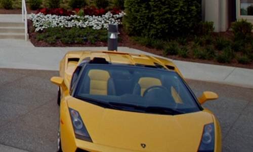 Dominic Cooper with Lamborghini 2006 Gallardo Spyder Convertible in Need for Speed