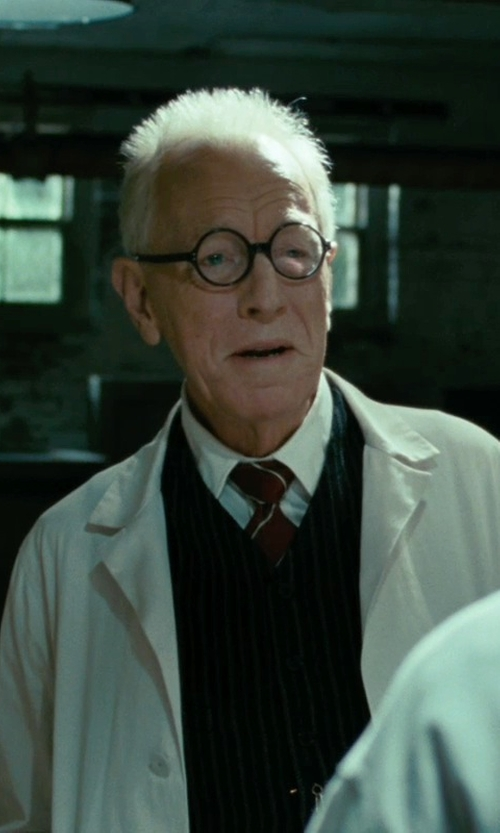 Max von Sydow with River Island Navy Pinstripe Vest in Shutter Island