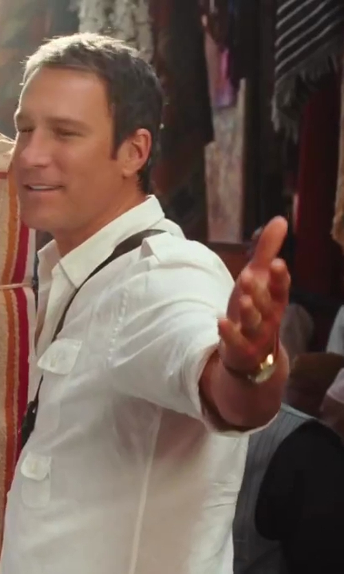 John Corbett with Tommy Hilfiger Embossed Leather Strap Watch in Sex and the City 2