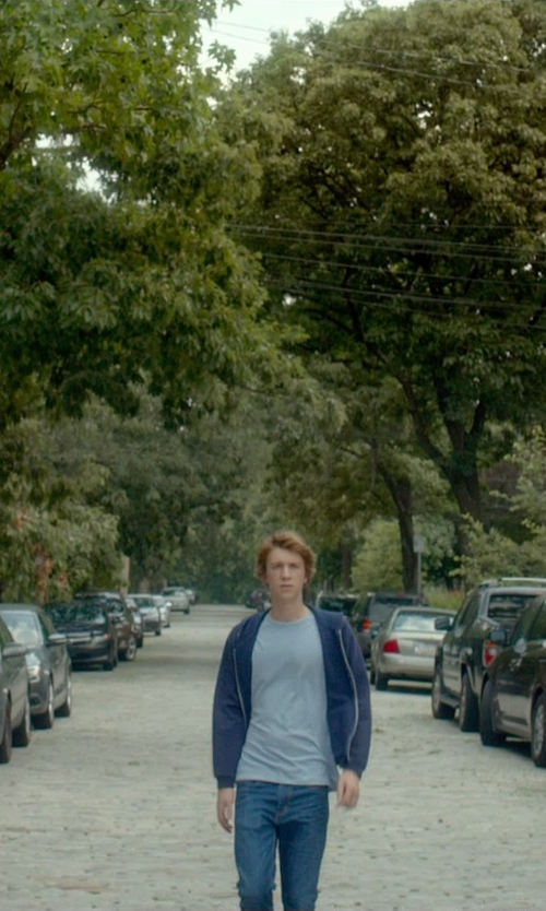 Thomas Mann with Goodlife Zip-Front Hoodie in Me and Earl and the Dying Girl