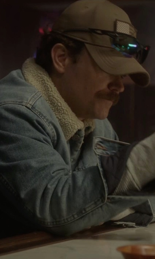 Clayne Crawford with Naked & Famous Denim Sherpa Jacket in Lethal Weapon