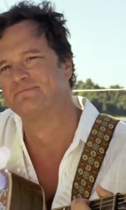 Colin Firth with Black Brown 1826 Linen Sportshirt in Mamma Mia!