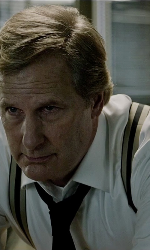Jeff Daniels with Desert Navy Striped Suspenders in The Martian