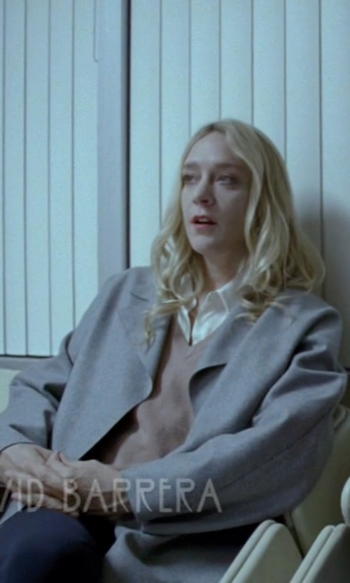 Chloë Sevigny with MM6 by Maison Margiela Wool Baize Coat in American Horror Story