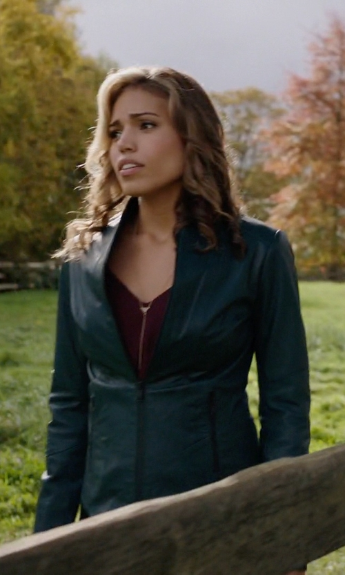 Ciara Renée with Danier Brielle Leather Moto Jacket in Arrow