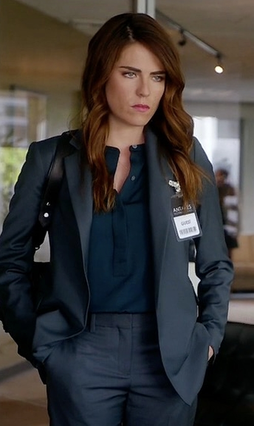 Karla Souza with 3.1 Phillip Lim Solid Wool Blend Blazer in How To Get Away With Murder