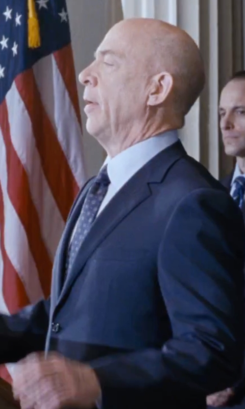 J.K. Simmons with Gitman Medallion Silk Blend Tie in The Accountant
