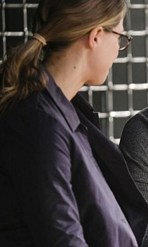 Melissa Benoist with J.Crew Campbell Blazer in Corduroy in Supergirl