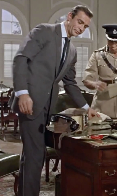 Sean Connery with Boss Hugo Boss Virgin Wool Suit in Dr. No